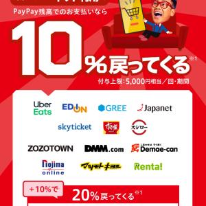 【お得】paypay対象ネットストアで10%20%戻ってくる!抽選で全額バックも!