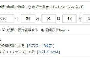 【FC2ブログ】トップ記事固定対応だけど?? なんか公開範囲がおかしいような・・・