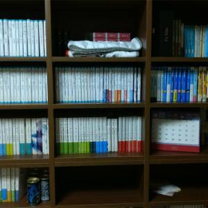 【ディノス】天井突っ張り式の壁一面本棚買いました。(120cm×30cm)やっと本の整理が出来て大満足??