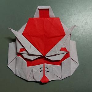 折り紙作品:ガンダム、ジム、ザクの顔
