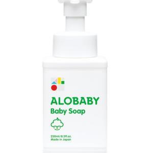 ふわふわの泡で赤ちゃんの肌を優しく洗える!アロベビーのベビーソープ