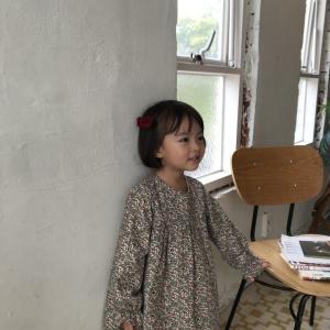 韓国子供服 冬物 GT 花柄ワンピース