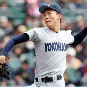 横浜・及川は阪神3位指名「愛される選手目指す」