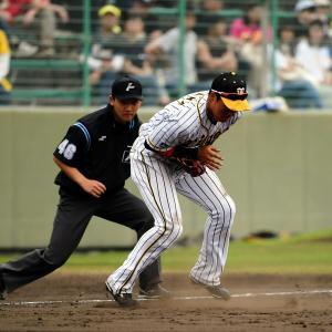 阪神 締まらぬ守備にスタンドからもため息。八回に二塁・植田がゴロをはじくと、九回は三塁・大山が失策