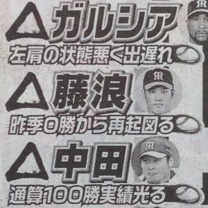 阪神・開幕ローテ争いと外国人枠争いの現状