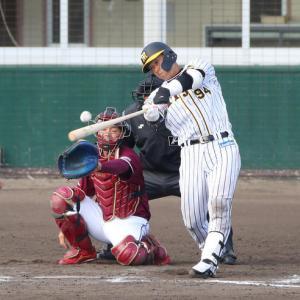 阪神原口が猛打賞「練習でやっていること出せた」