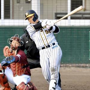 阪神・原口、途中出場で3の3 新打法で存在感「3本とも出せたかな」