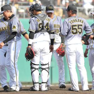 阪神・能見さん 今季初登板は予定の1イニング持たず 2/3回を7安打7失点で降板
