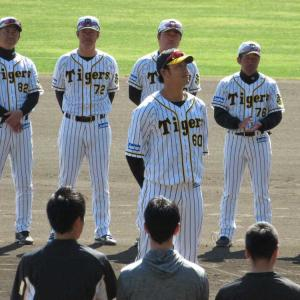 阪神2軍もキャンプ打ち上げ 野手キャプテン中谷「一人でも多く1軍の戦力に」