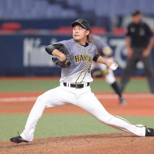 阪神 島本浩也、左肘手術から246日ぶり1軍マウンドで1回1安打無失点 昨季自己最多の63試合に登板