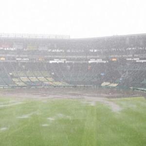 【悲報】阪神-巨人戦 雨天の為中止!明日も雨予報