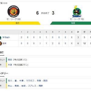 阪神 6-3 ヤクルト 試合結果 甲子園球場 2020/7/14