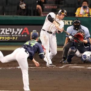 阪神ボーア連続試合安打8で止まるも勝利呼ぶ1打点