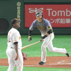 阪神・大山 猛追19号!巨人・岡本欠場の間にキング2差接近