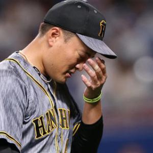 阪神秋山が失点4、自責点0「自分の2つのミスが失点につながってしまい悔しいですし、チームに申し訳ないです」