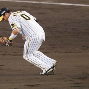 阪神木浪が2戦連続の凡ミス 正面の打球捕球できず
