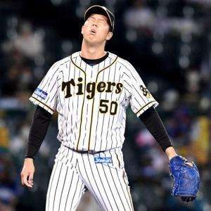 阪神・青柳8失点自己ワーストKO…9月0勝 福原コーチ「2個の先頭打者への四球がどちらも点に絡んだ。反省材料が多い登板だった」