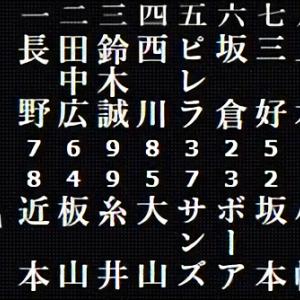 阪神 - 広島 スタメン 甲子園球場 2020/10/20