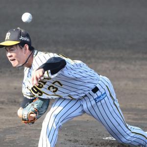 阪神及川「同級生対決として、先に降板してしまったというのはやっぱり悔しいです」奥川と初対決で先に降板