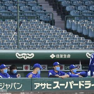 阪神・サンズの折れたバットで「あわや大惨事」
