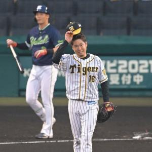 阪神・西勇輝が移籍後初の押し出し四球 先制点を献上