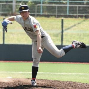 阪神が高評価「湯舟のよう」新たに関西学院大の左腕・黒原らプロ野球志望届