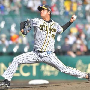 阪神・高橋遥人が329日ぶりの勝利投手の権利 圧巻7回2安打無失点10奪三振