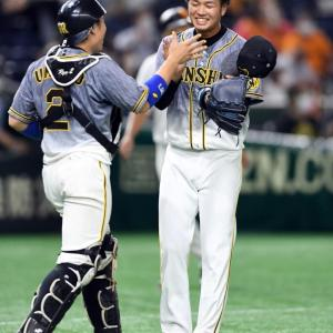 阪神・高橋遥人がプロ初完封 九回満塁「なんで最後こうなるのかなと思って投げていたんですけど、最後しっかり締められてめちゃくちゃうれしかったです」