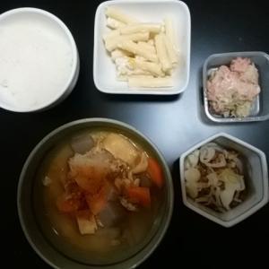 1/28 晩飯、豚汁