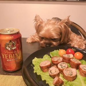 【男の料理】男子厨房に入ろう … 大葉入り「豚肉ロール巻き」ビールが、ビールが美味しい〜❣️