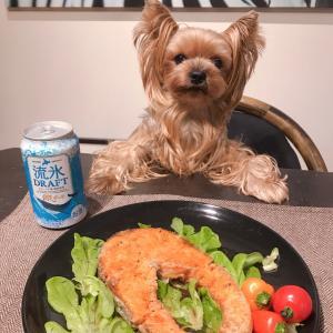 """【男の料理】男子厨房に入ろう …""""立派なサーモン""""をステーキに、そのお供は『流氷ドラフト』"""