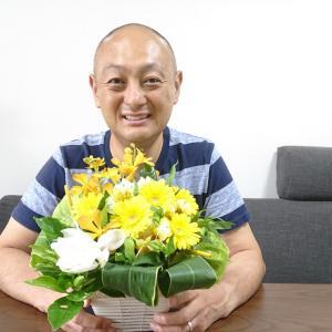 「予想外って嬉しい」話。タカ、花をもらう。