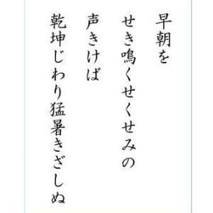 ☆☆ 定点観測 十八 舗装工事 短歌七首