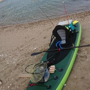 SUP釣りでマゴチをGET!