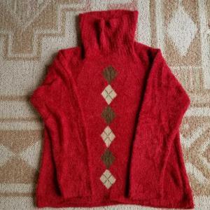 セーターからモコモコバッグ