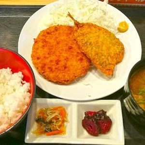 鹿骨街道沿いの篠崎の魚味小屋では安価なランチに赤だしのアラ汁が付いてきます