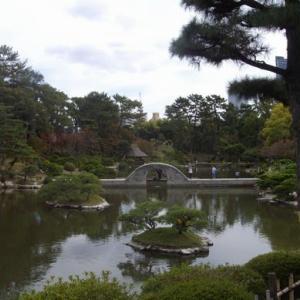 縮景園:紅葉