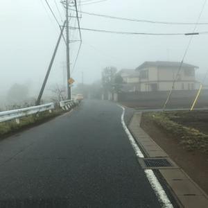 濃霧の千葉市