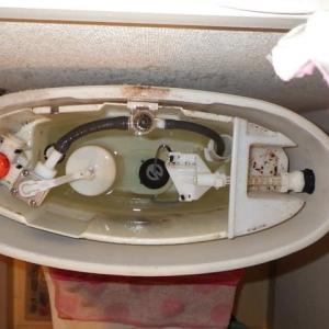 ダイヤフラムと排水弁パッキンの交換・・・トイレ修理