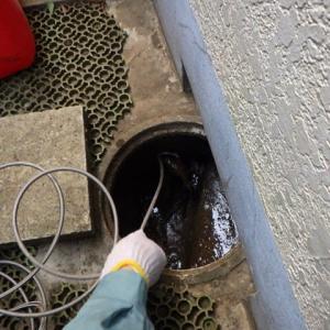 高圧洗浄機を使って詰まり修理・・・千葉市