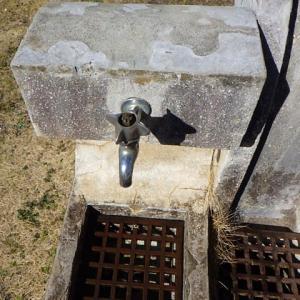 自閉ホーム水栓と自閉立水のみの交換・・・カクダイ