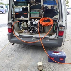 某運送屋さんの給水管が400mある漏水調査・・・千葉市