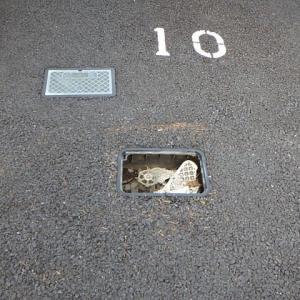 駐車場のFRP製ボックスを鋳鉄製ボックスに交換・・・千葉市