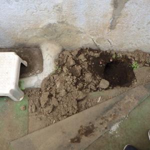 浴室の下で水漏れ・・・千葉市