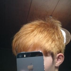髪の毛を初音ミク(青緑、エメラルドグリーン)色に染めました