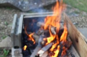 田舎はたき火が出来ます