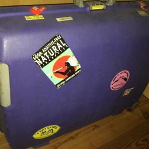 30年近く前のスーツケース