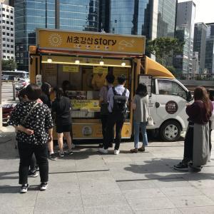 韓国24日目 カンナムのホットドッグをまた食べに