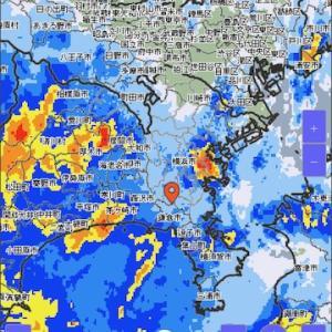 台風接近につき