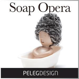 [おもしろい]オペラ歌手の頭に色々なスポンジをセットしてヘアスタイルが楽しめるスポンジホルダー